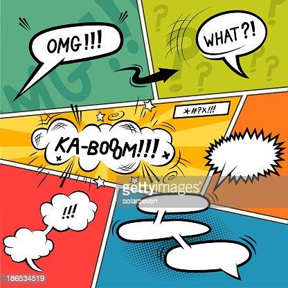 comic strip speech bubbles vector art | thinkstock