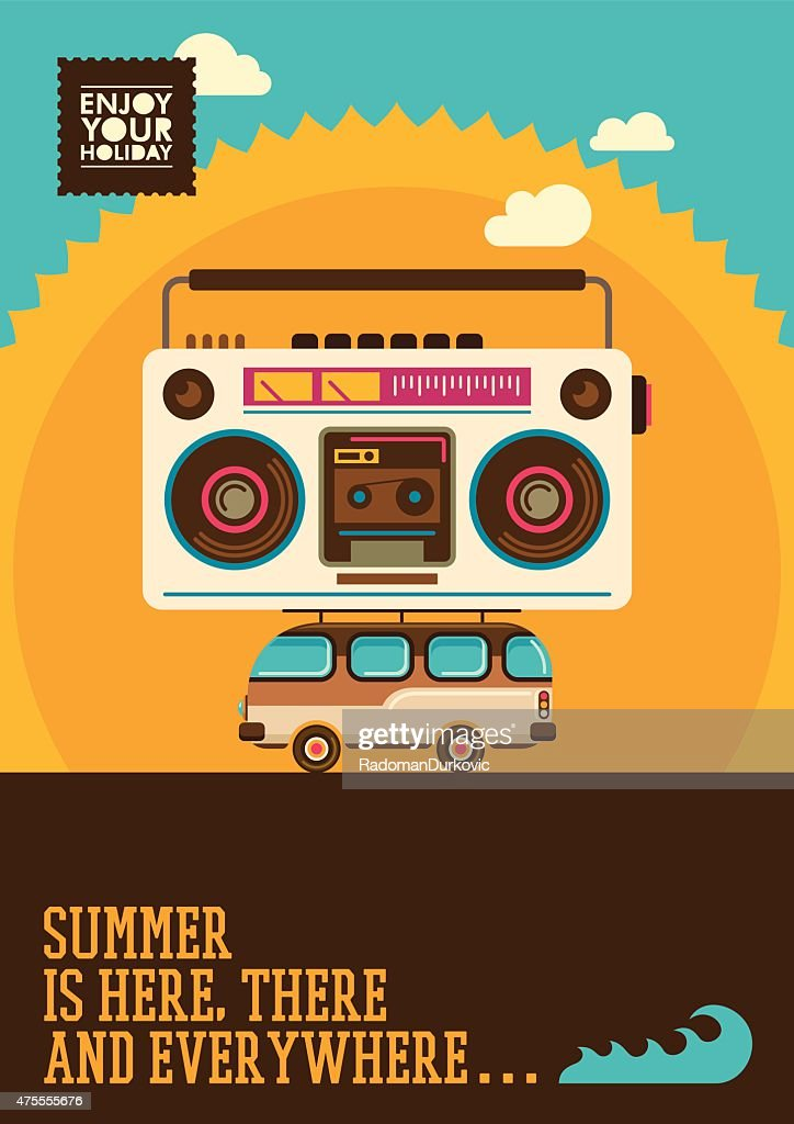 Comic summer poster.