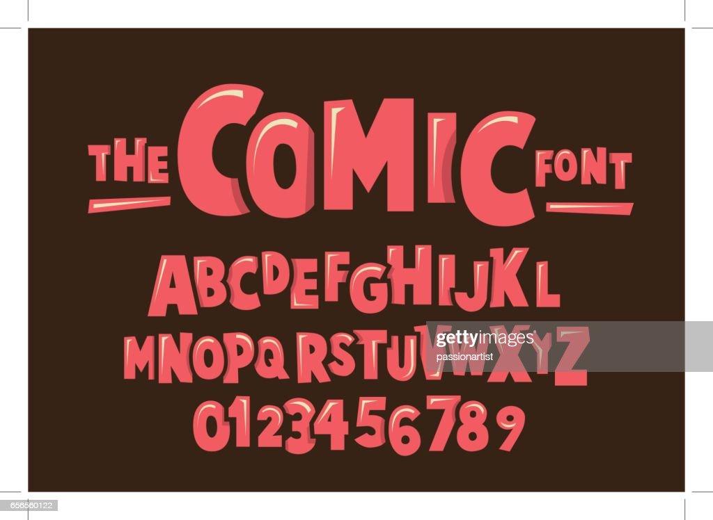 Comical alphabet