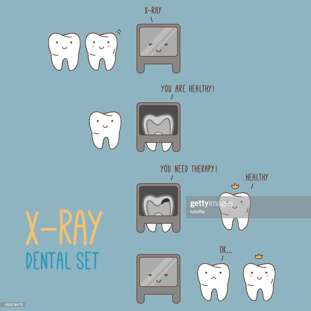 Comics about dental X-ray.
