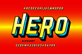 Comics style super hero font