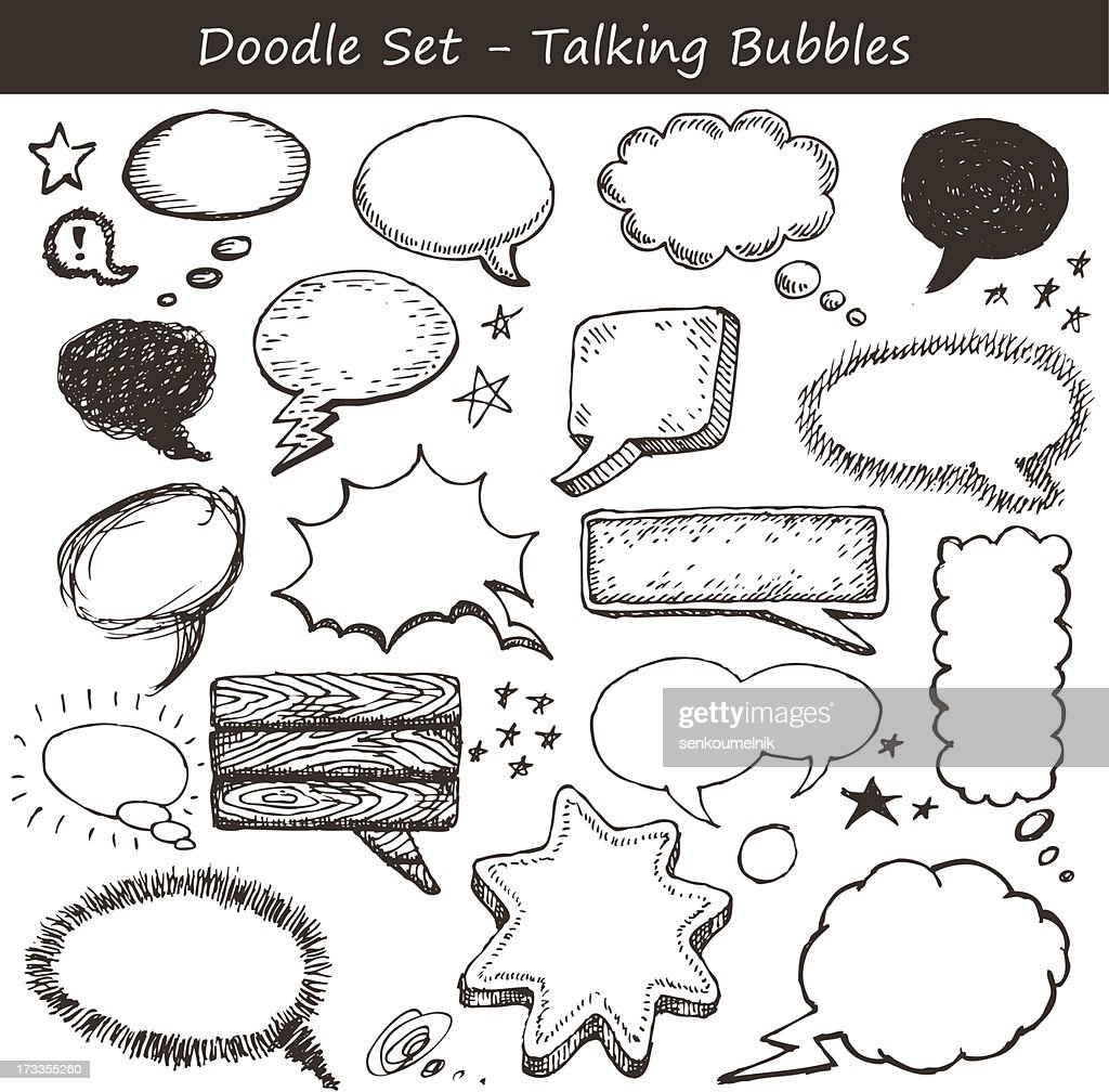Comics-style speech bubbles