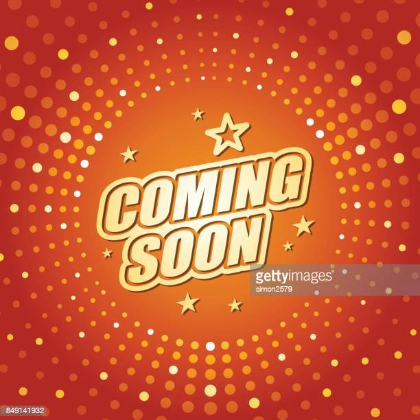 coming soon banner - opening event stock illustrations