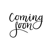 Coming soon handwritten inscription. Hand lettering. Modern brush calligraphy. Isolated