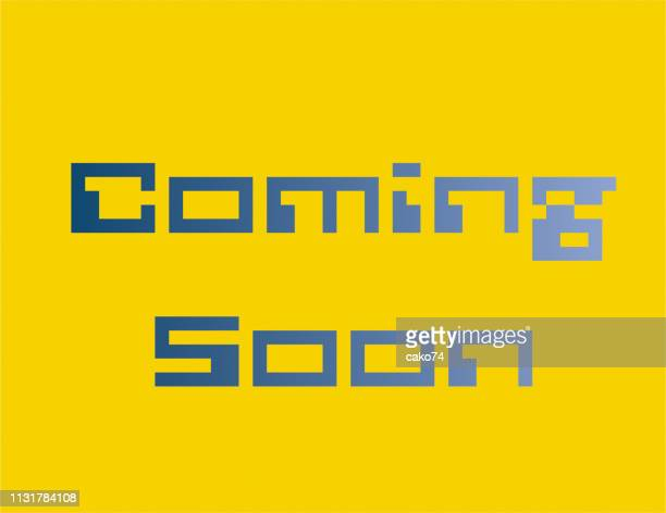 Coming soon pixel style