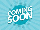 Coming Soon retro vintage poster. Promotion flyer template vector illustration