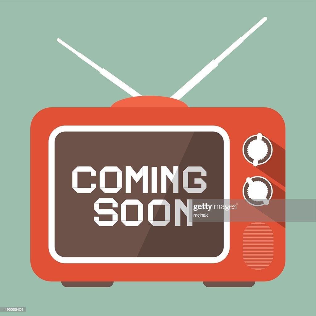 Coming Soon Title on Retro TV Screen