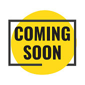 Coming soon. Vector flat illustration on white background.
