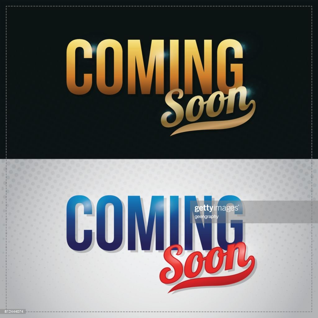 coming soon vector premium hand lettering illustration