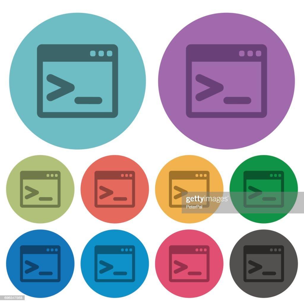 Eingabeaufforderung Farbe Dunkler Flache Symbole Vektorgrafik ...
