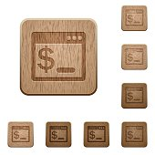 OS command terminal wooden buttons
