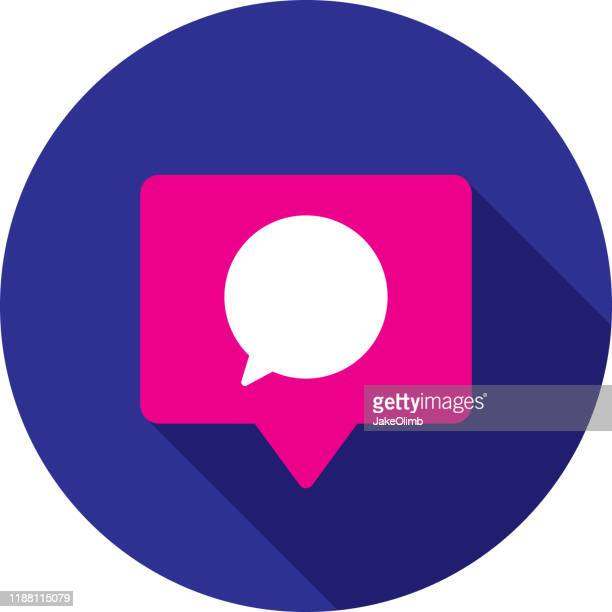 コメントスピーチバブルアイコンフラットサークル - 解説者点のイラスト素材/クリップアート素材/マンガ素材/アイコン素材