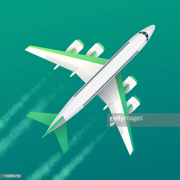 commercial air travel background - vapor trail stock illustrations, clip art, cartoons, & icons