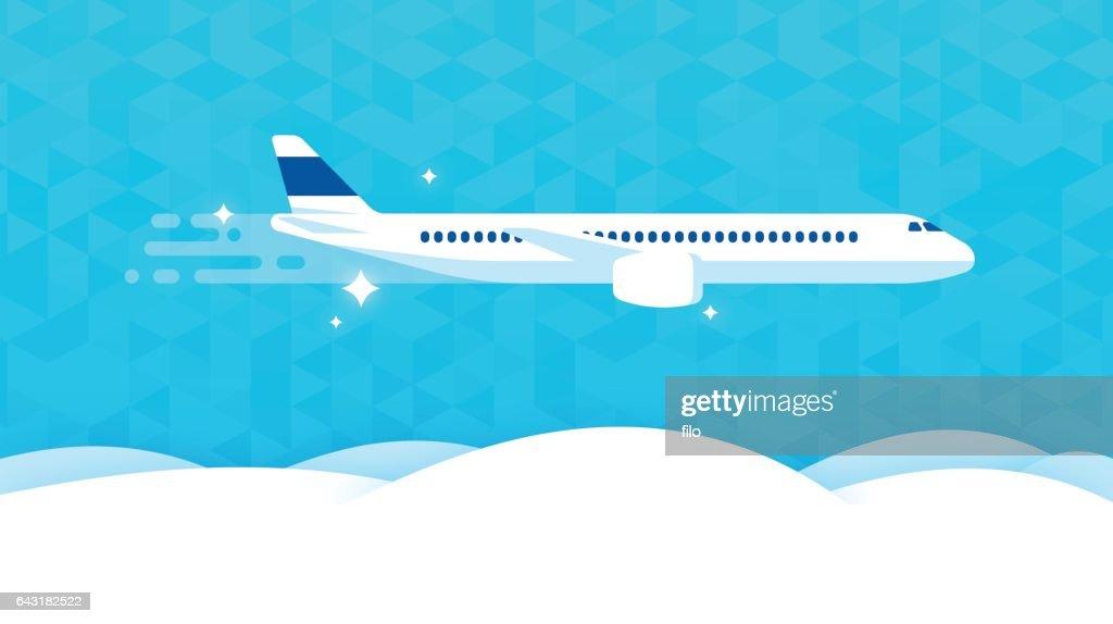 Commercial Air Travel : stock illustration