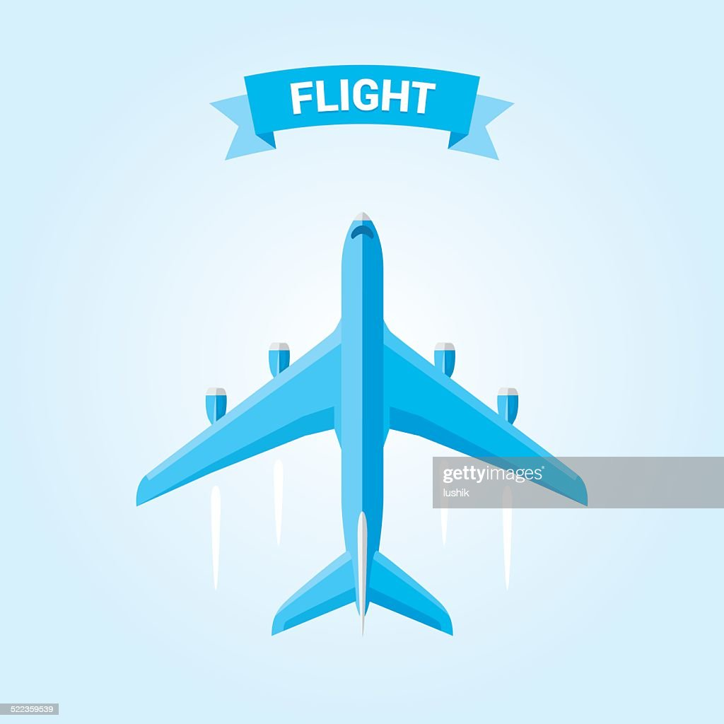 Commercial airplane flight