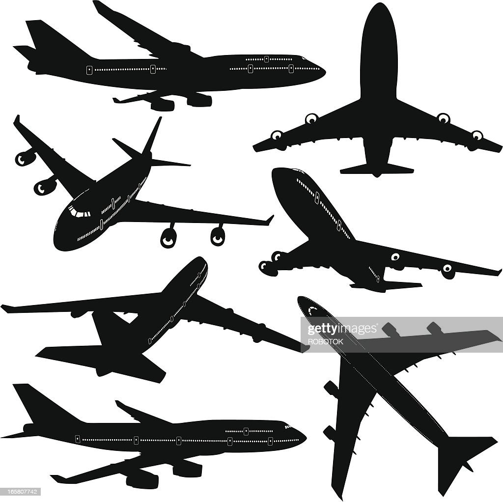 Commercial Airplane stock illustration - Getty Images