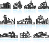 Commercial and Public Buildings Black & White Set