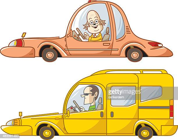 commercial and sedan - street racing stock illustrations, clip art, cartoons, & icons