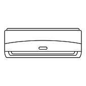 Commercial conditioner icon, outline style
