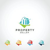Commercial Real estate icon Template