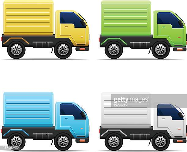 commercial van icons - lutin stock illustrations