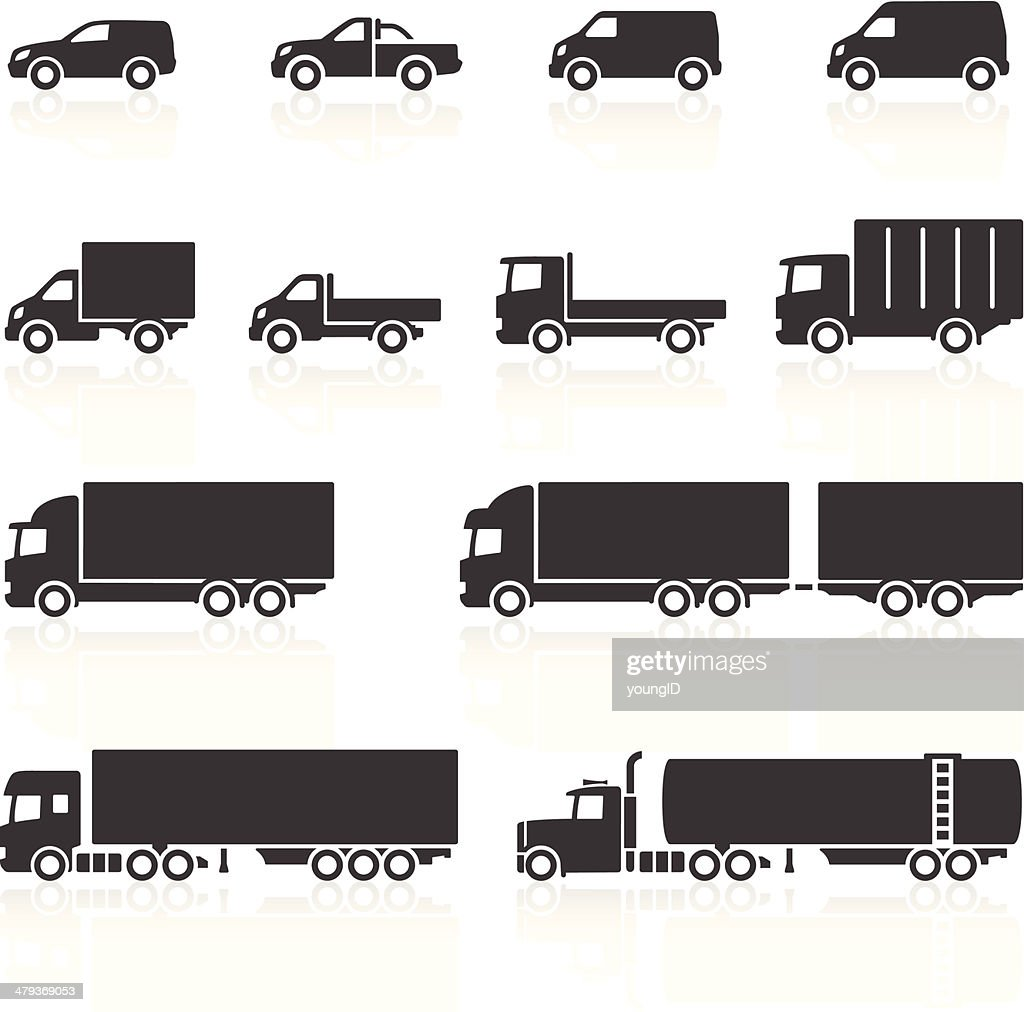Commercial Vehicle Icons : stock illustration