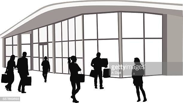 commercialzone - entrance stock illustrations, clip art, cartoons, & icons