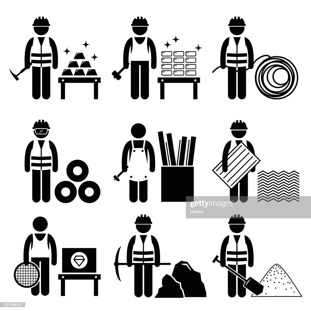 Commodities Precious Industrial Metal Icons