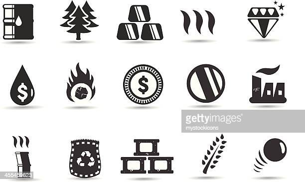 commodity icons and symbols - metal industry stock illustrations