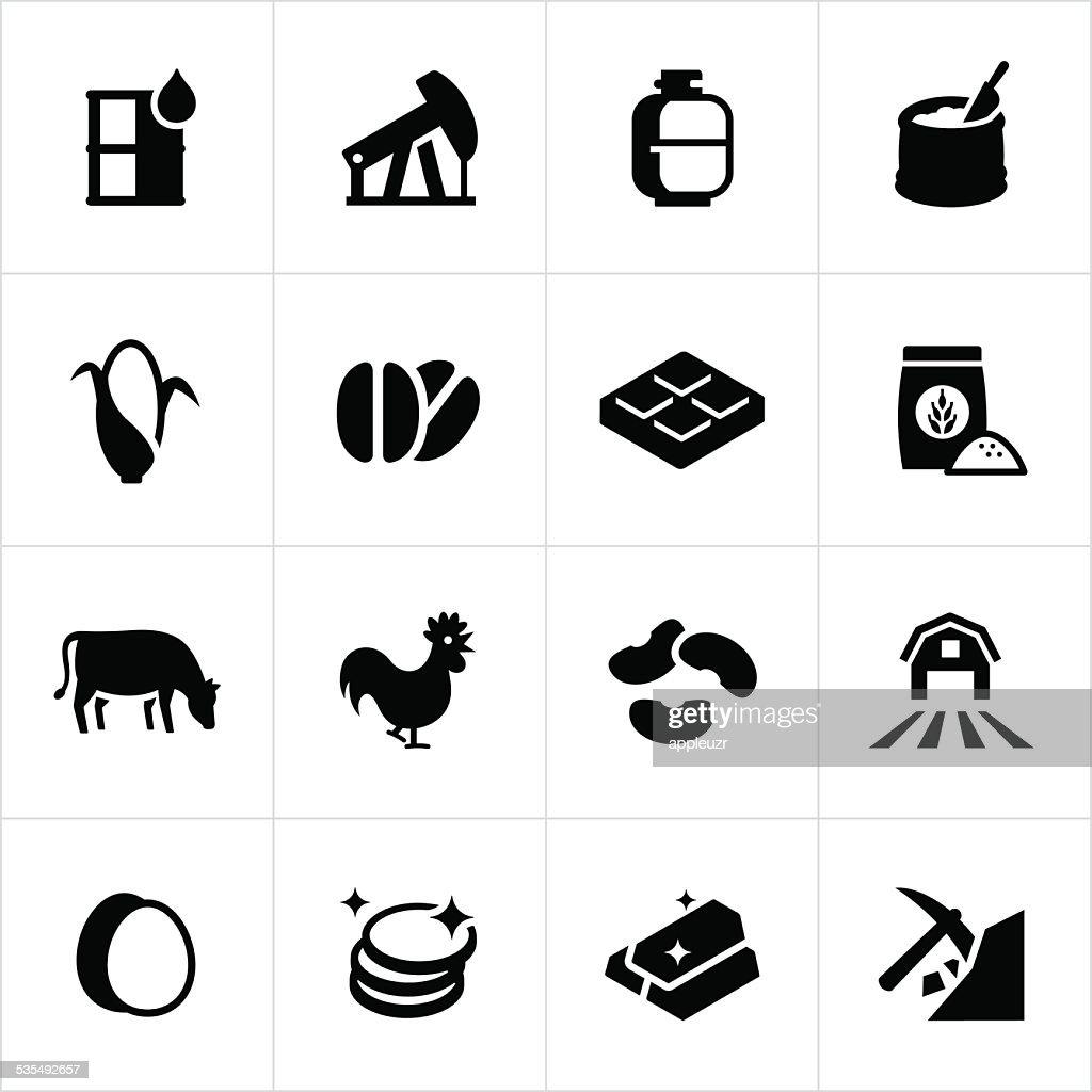 Commodity Market Icons : stock illustration