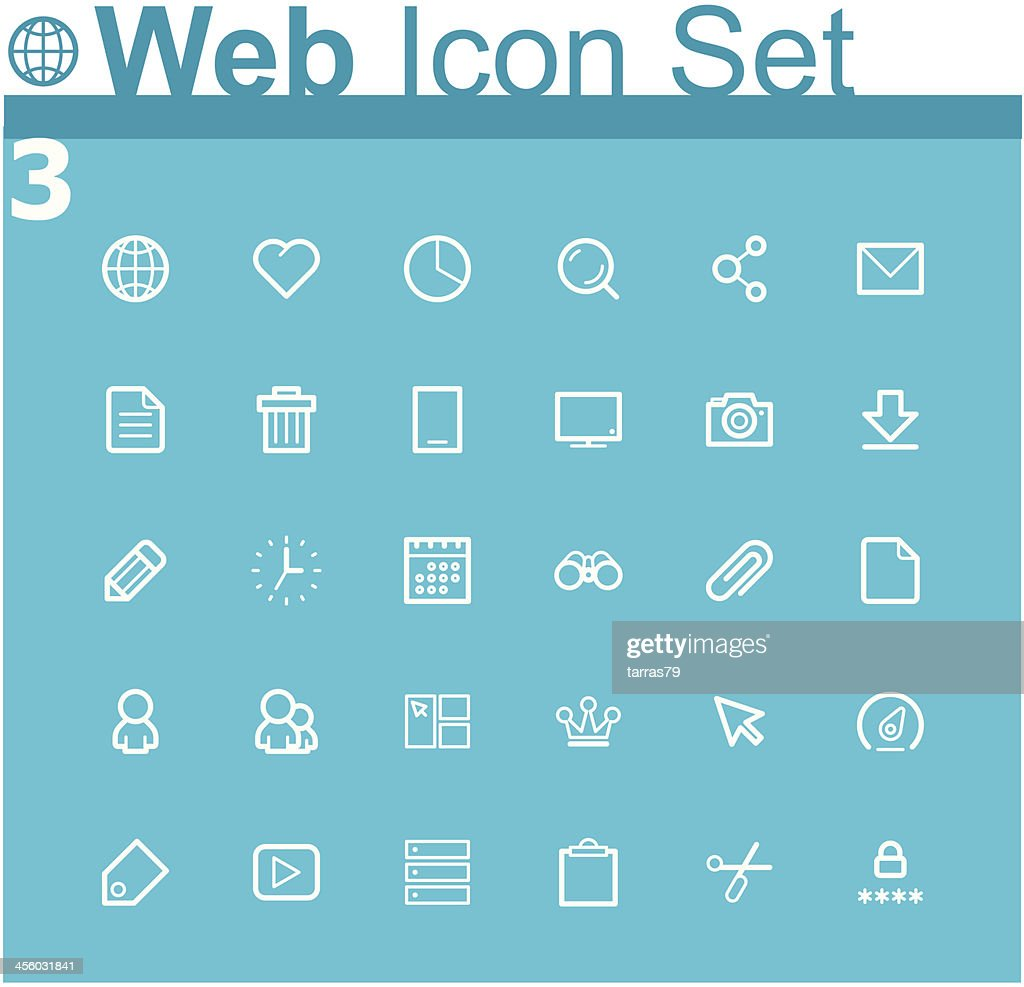 Common internet icons and symbols