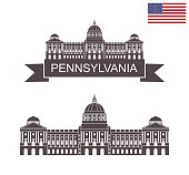 Commonwealth of Pennsylvania. Pennsylvania State Capitol in Harrisburg