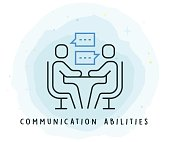 Communication Abilities Icon with Watercolor Patch