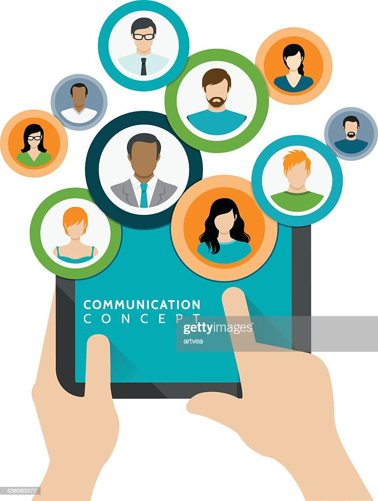 Communication and Business Concept : Stock Illustration