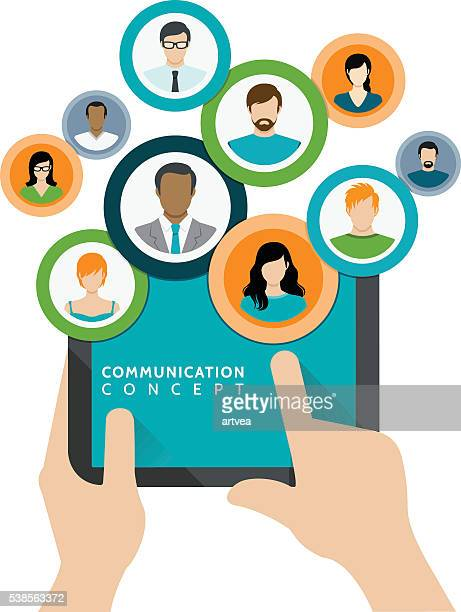 Communication and Business Concept