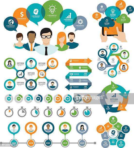 communication and business concept - time line stock illustrations, clip art, cartoons, & icons