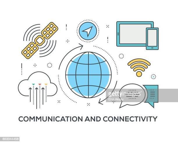 Communication and Connectivity Concept with icons