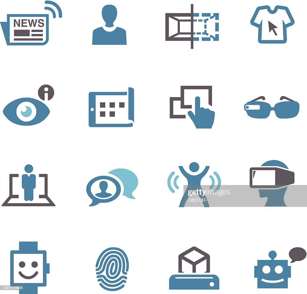 Communication and Digital Technology Icons - Conc Series