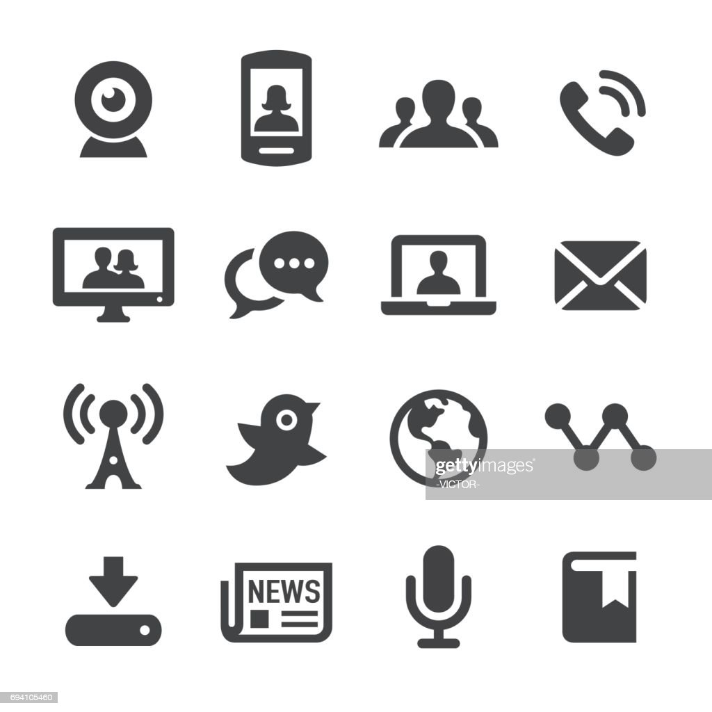 Communication and Media Icons - Acme Series : stock illustration