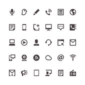 Communication and Media icons | Paris Series