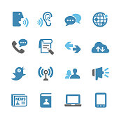 Communication and Media Icons Set - Conc Series