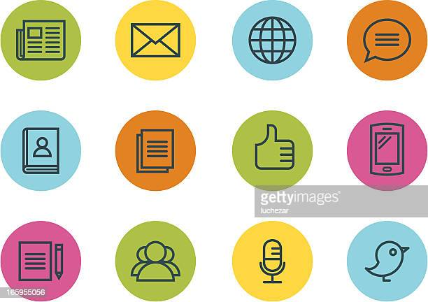 communication and media icons - electronic organizer stock illustrations, clip art, cartoons, & icons