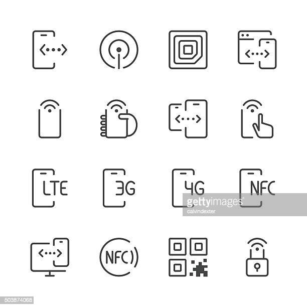 Communication and Mobile Data Icons 1 | Black Line series
