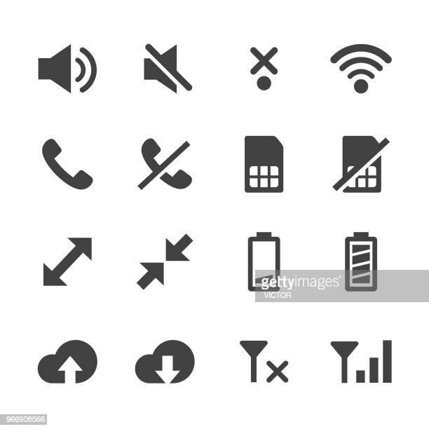 Communication and Phone Icons Set - Minimal Series