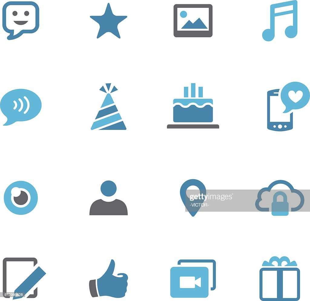 Communication and Social Media Icons - Conc Series
