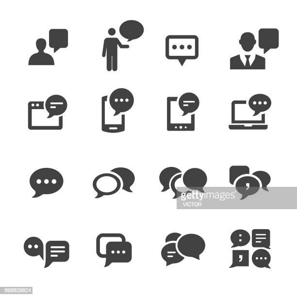communication and speech bubble icons - acme series - discussion stock illustrations