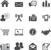 communication and web icons