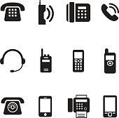 communication, call, phone vintage, retro telephone Vector Illus