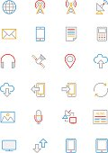 Communication Colored Line Icons 1