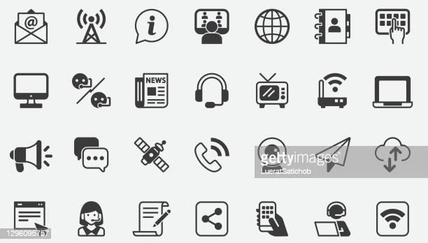 コミュニケーションコンセプトアイコン - シンジケーション点のイラスト素材/クリップアート素材/マンガ素材/アイコン素材